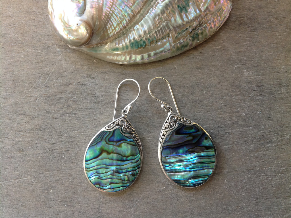 Rising Tides Abalone Earrings