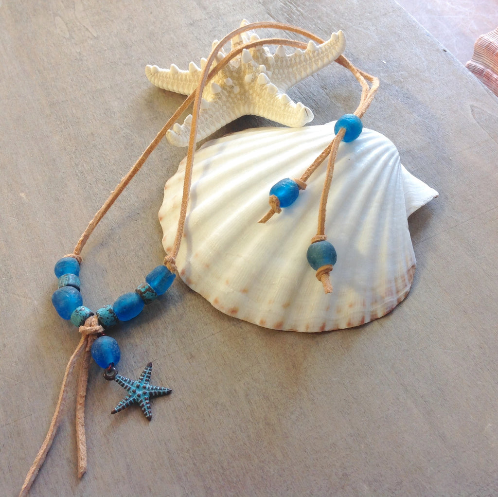 Ocean Star Leather Necklace
