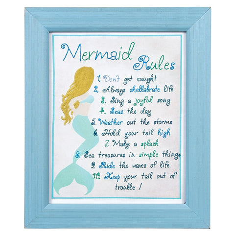 Mermaid Rules Stitcherry Sign