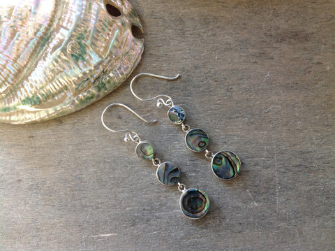 Abalone Droplet Earrings