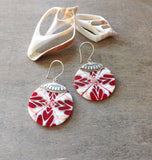 Sliced Cone Shell Earrings