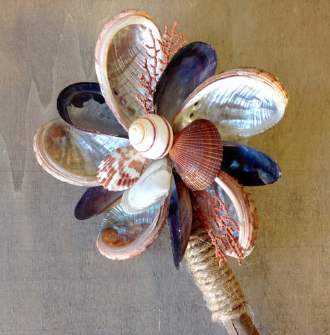 Autumn Nature Seashell Flower
