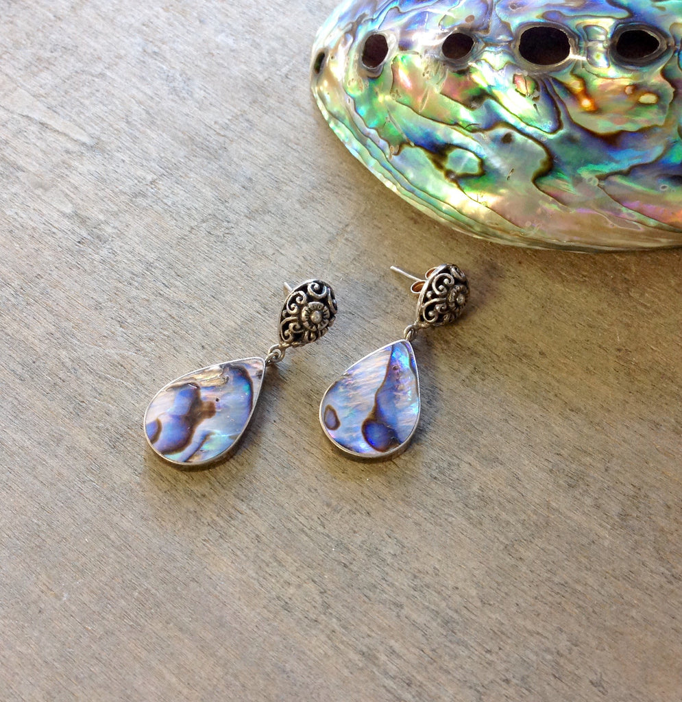 Antique Abalone Earrings