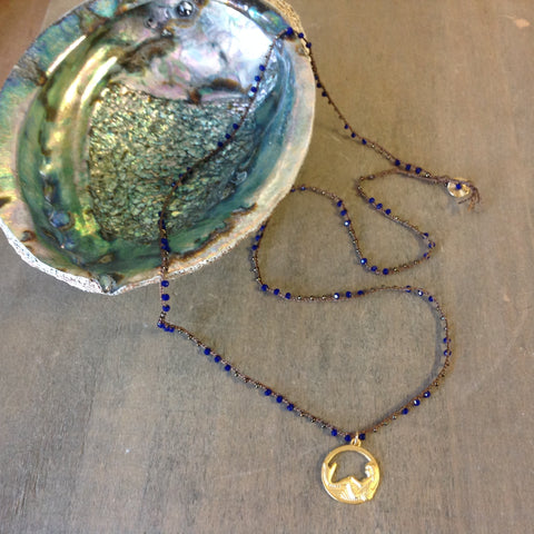Circle Gold Mermaid Pendant Necklace