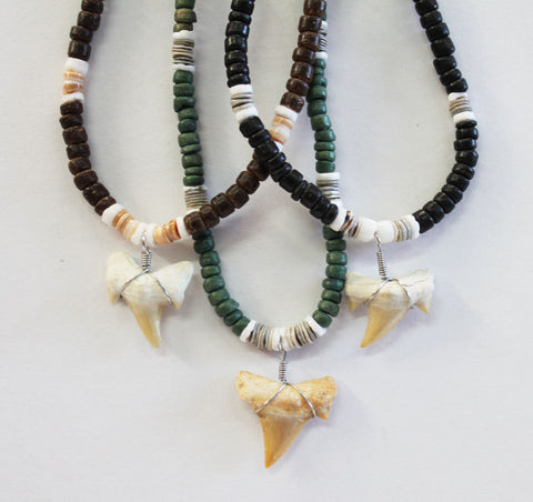 Shark Tooth Bead Necklace