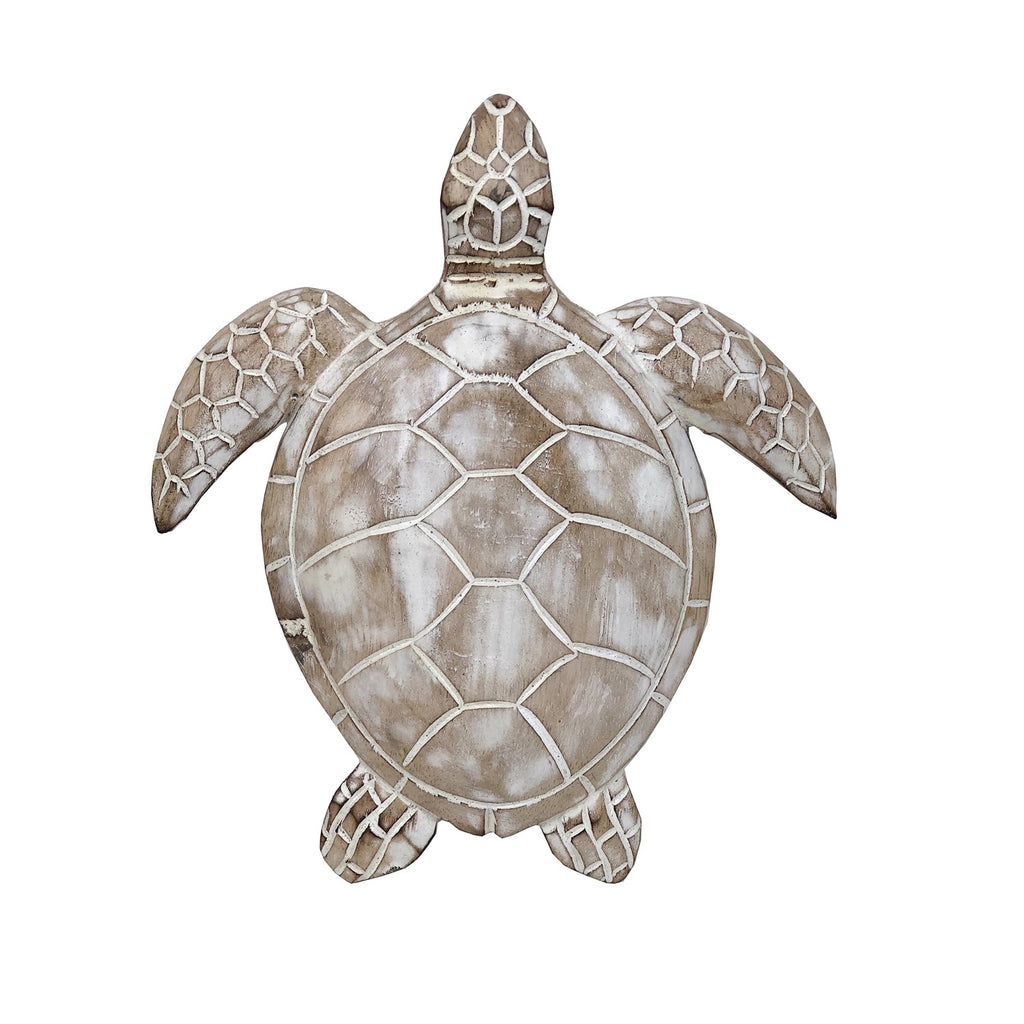 Wood Sea Turtle Wall Decor