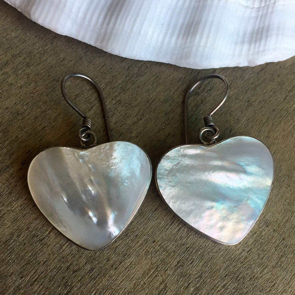 MOP Heart Earrings