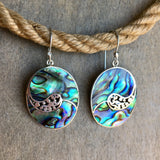 Abalone Filigree Paisley Earrings