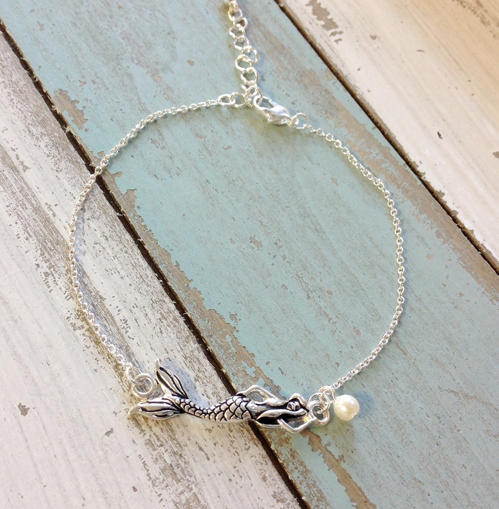 Mermaid Pearl Drop Anklet