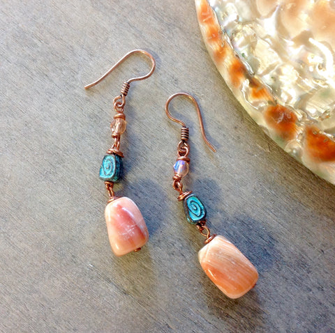 Red Abalone Earrings