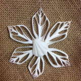 Snowflake Coral Star Shell Ornament