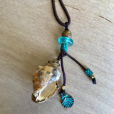 Seashell Silk Necklace
