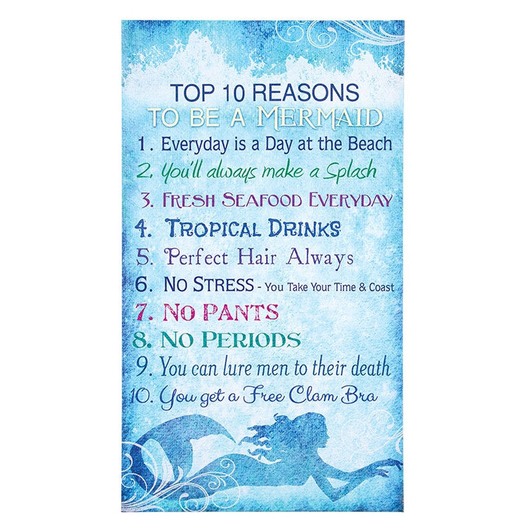 Top 10 Reasons to be a Mermaid Sign