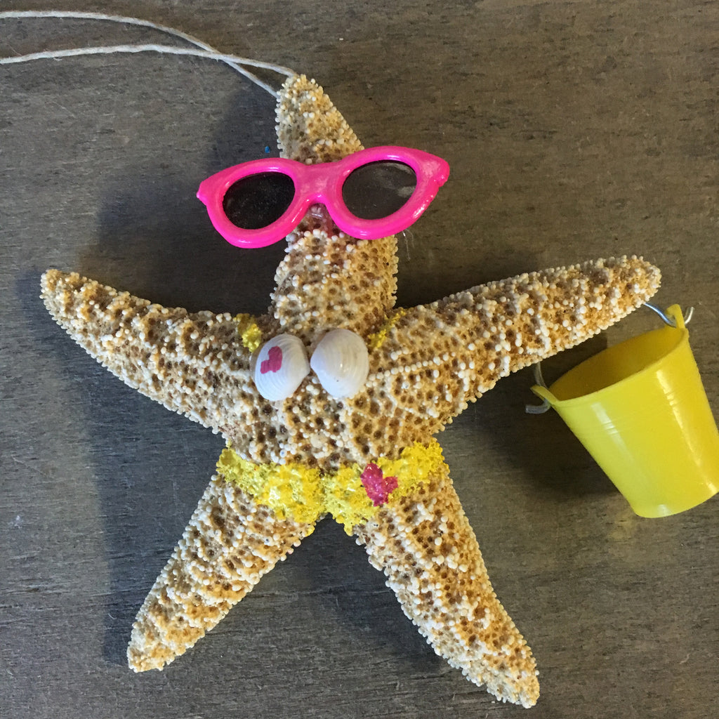 Starfish Beach Girl Ornament
