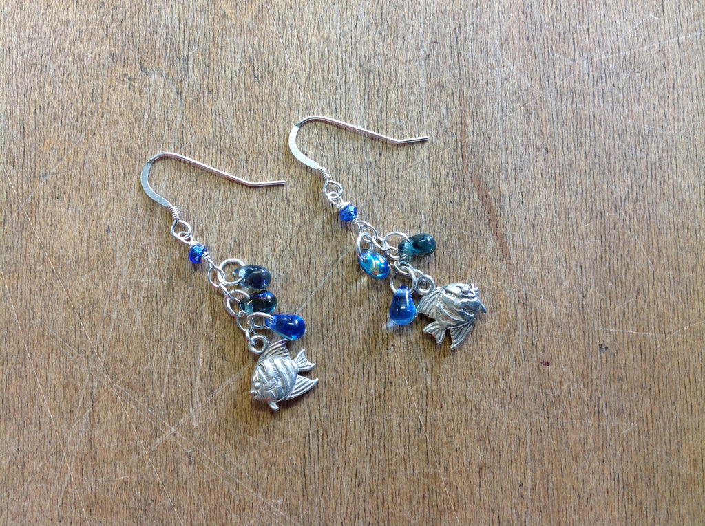 Fish Water Drop Earrings