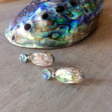 Abalone Stud Drop Earrings