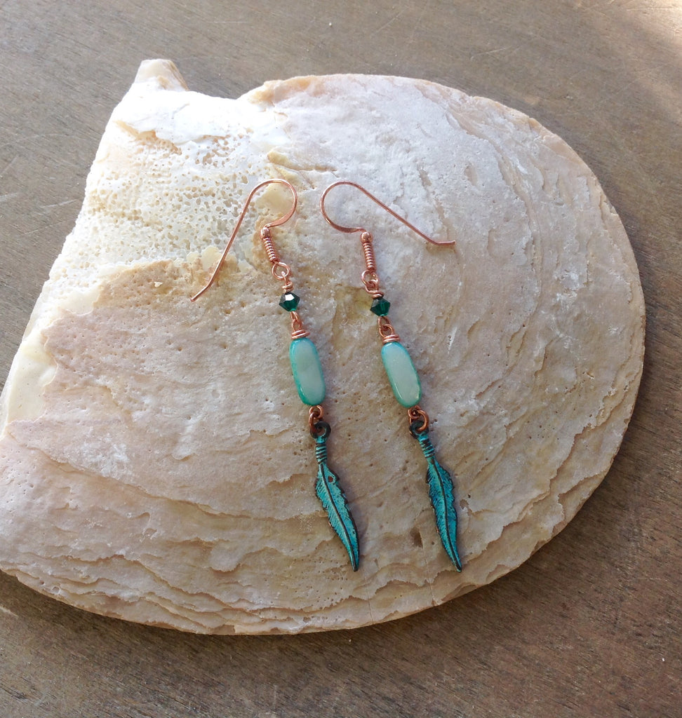 Patina Feather Earrings