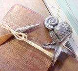 Starfish Shell Cutting Board & Knife Set