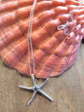 Silver Burst Starfish Necklace