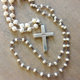Sea Pearl Rosary Necklace