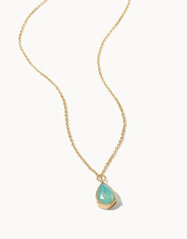 Shell Birthstone Gem Necklace