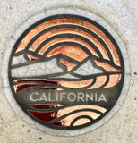 California Raku Pottery Coaster