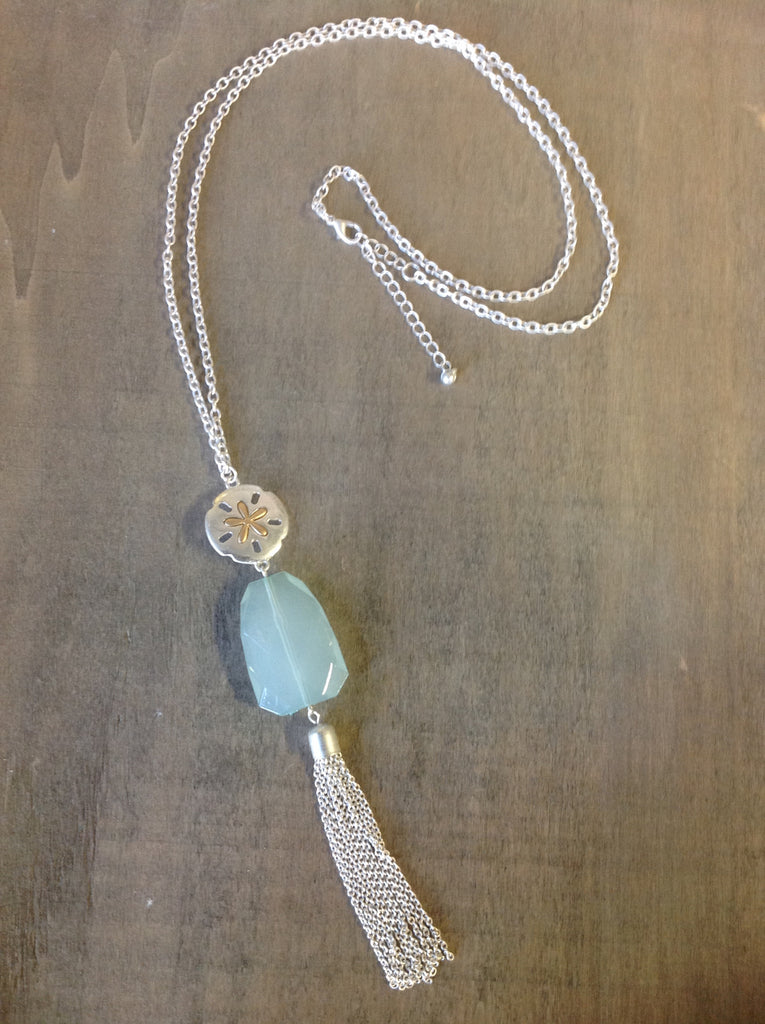SandDollar Tassel Necklace