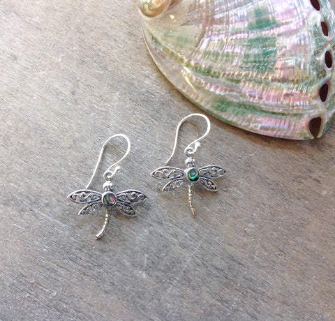 Dragonfly Abalone Earrings