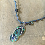 Flip Flop Abalone Necklace