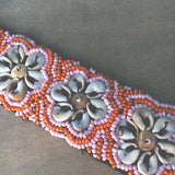Tropical Flower Cowrie Shell Anklets