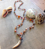 Red Abalone Jewel Necklace