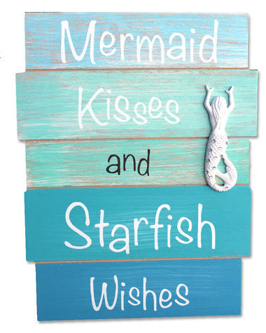 Mermaid Kisses & Starfish Wishes Sign