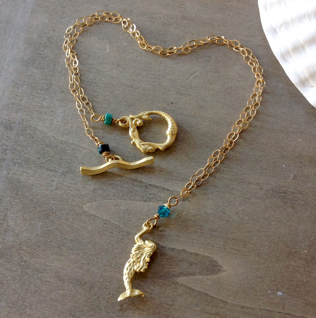 Mermaid Gold Necklace