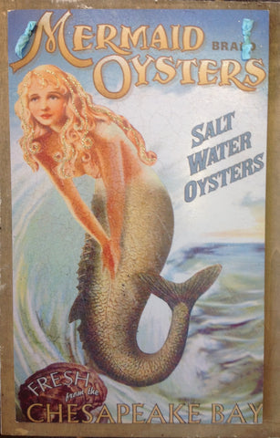Hanging Mermaid Oysters Sign
