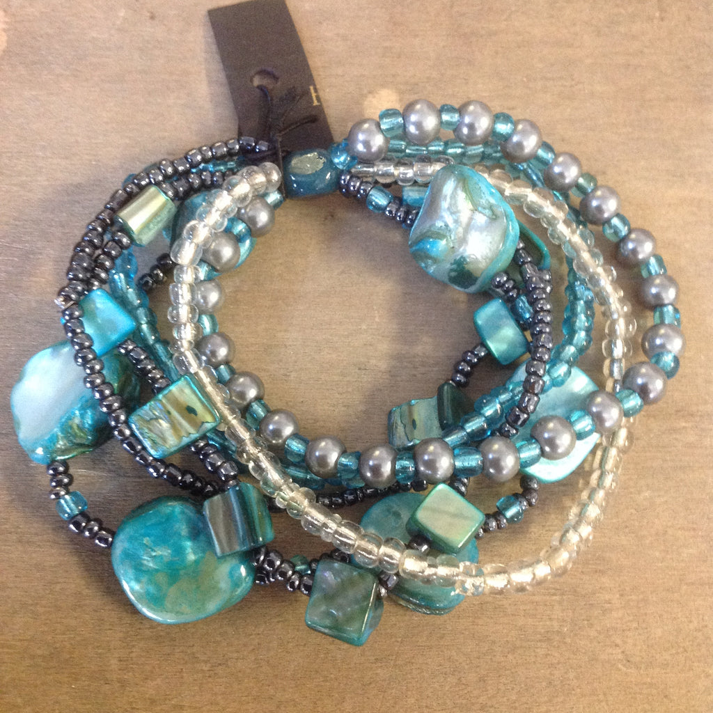 Shell Bead Bracelet Set