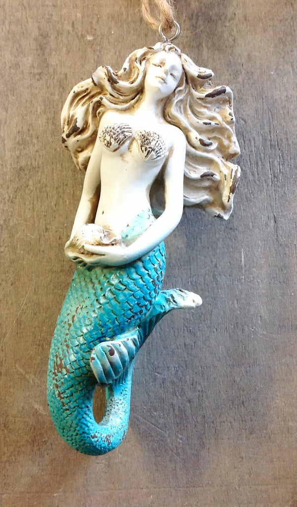 Vintage Style Mermaid Ornament