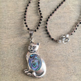 Kitty Cat Abalone Necklace