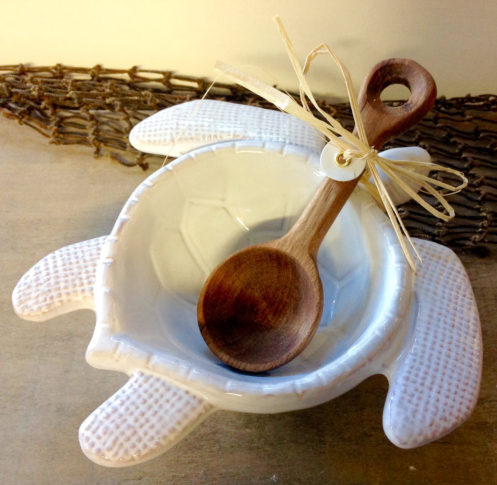 Sea Turtle Dip Bowl with Spreader Set