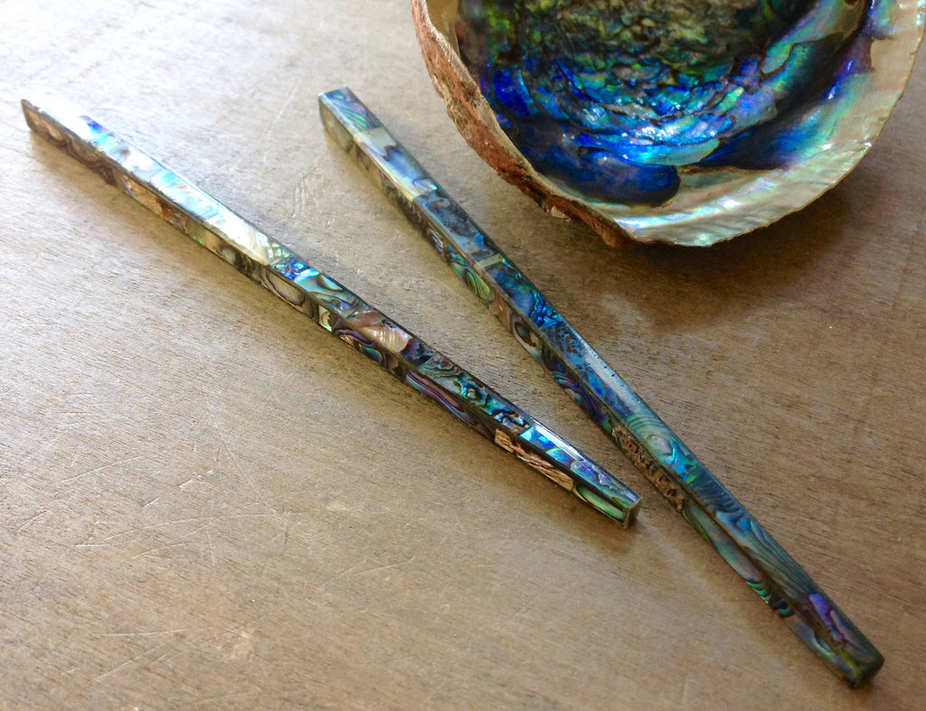 Green Abalone Hair Stick