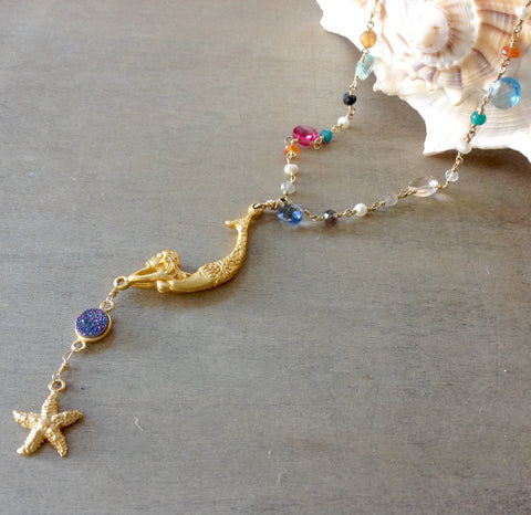 Jeweled Mermaid Necklace