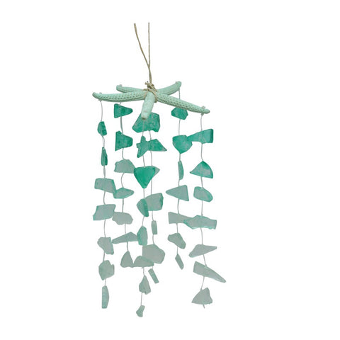 Green Glass Starfish Windchime