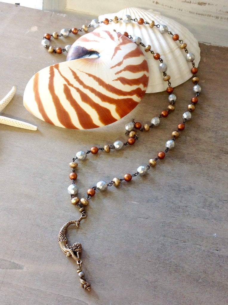 Mermaid Shell Dangle Necklace