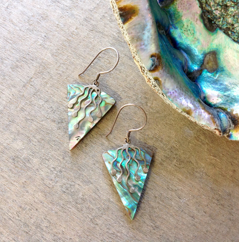 Abalone Pyramid Earrings