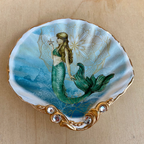 Mermaid Shell Trinket Dish