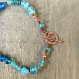 Copper Fish Blue Necklace