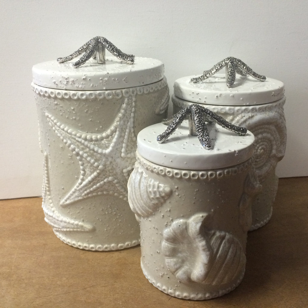 Sand Nautilus Canister Set
