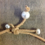 Pearls & Leather Lasso Necklace