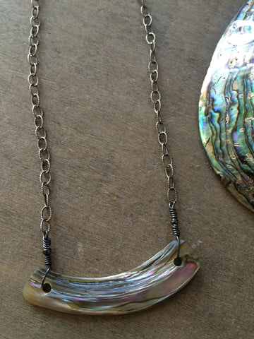 Abalone Piece Necklace