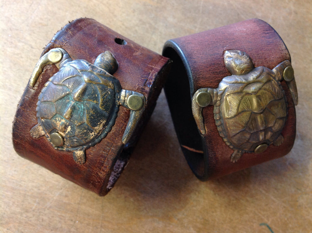 Turtle Leather Cuff