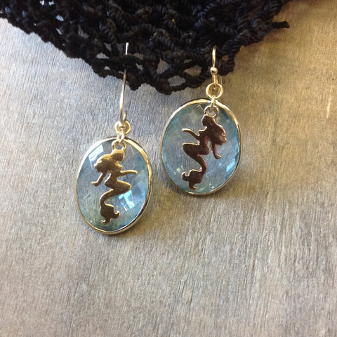 Aquamarine Mermaid Earrings